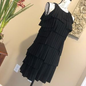 BANANA REPUBLIC Black Tiered Evening Dress. SZ XSP